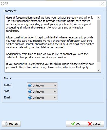 GDPR contact methods