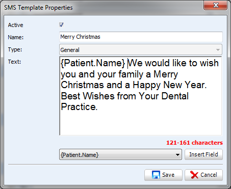 SMS Template for Christmas